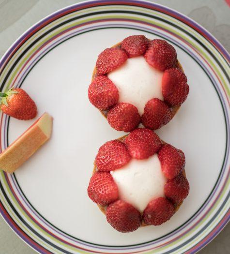 Tartelette fraise et rhubarbe